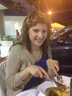Il secondo (in Kelly's pre-seafood loving days). Cotoletta alla milanese con contorno di patate.