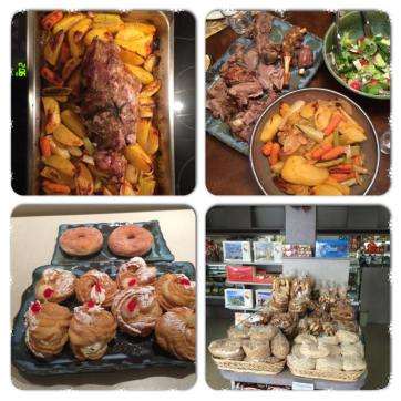 Fusion of Greek Lamb and Italian Zeppole Desserts