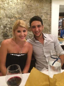 Kelly and Franceso at Ristorante Cicirinella in Salerno!